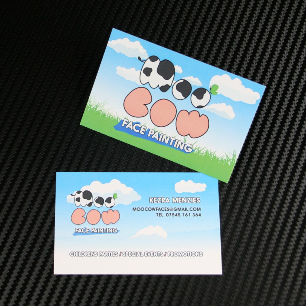 Moo Cow Manchester Designed & Printed Business Cards